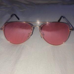 Pink aviator glasses